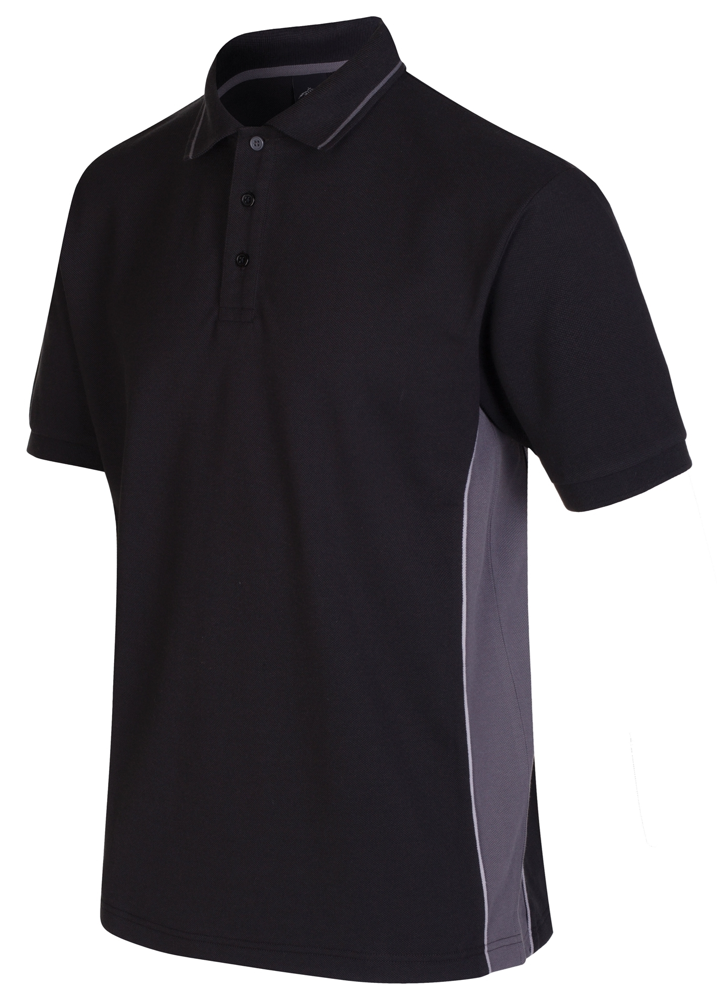 Picture of Gryzko Unisex Contrast Polo Shirt - Black/Grey