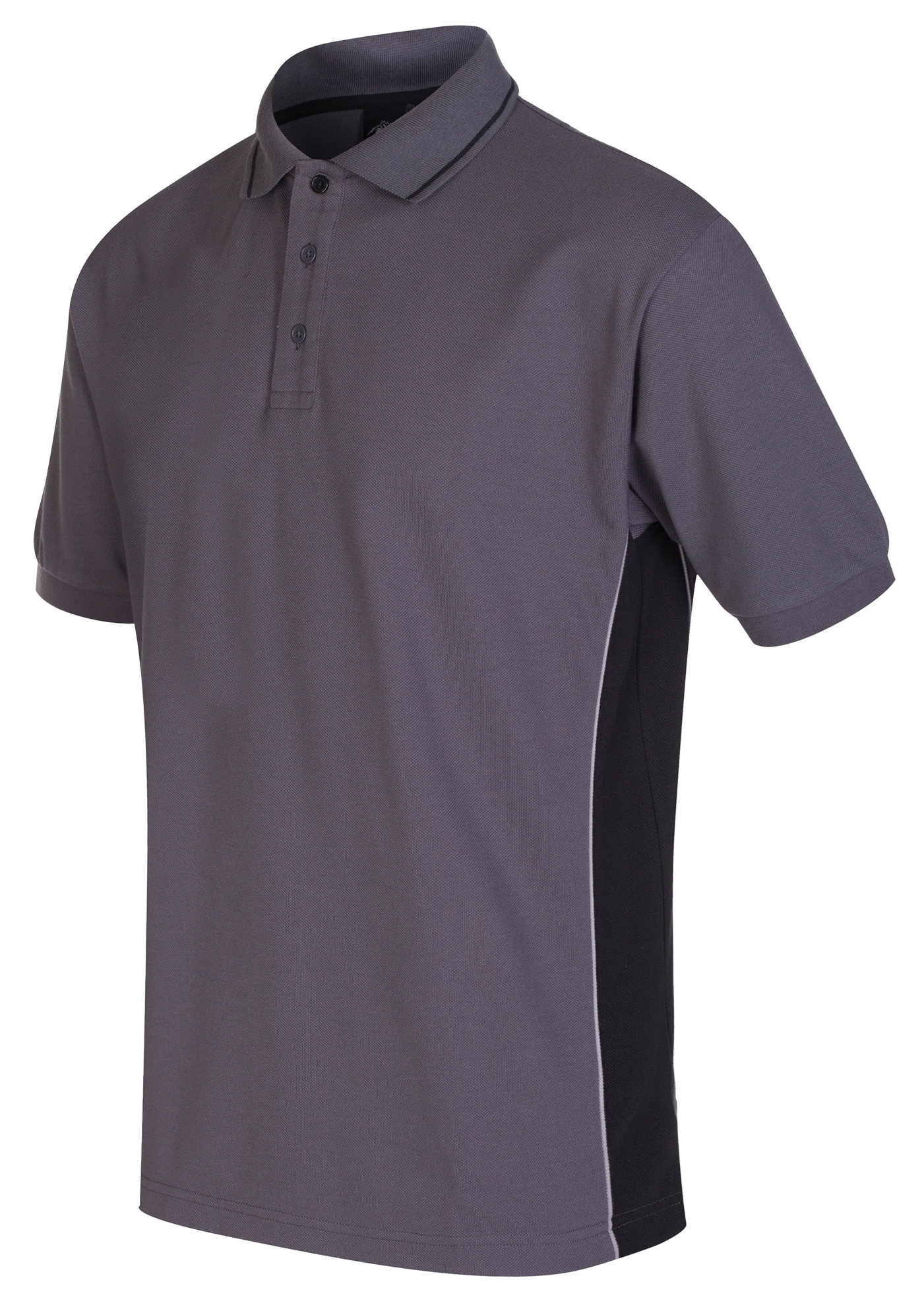 Picture of Gryzko Unisex Contrast Polo Shirt - Convoy Grey / Black