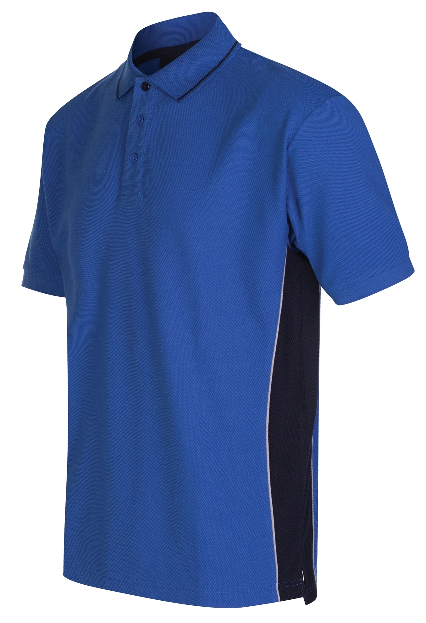 Picture of Gryzko Unisex Contrast Polo Shirt - Royal Blue/Navy