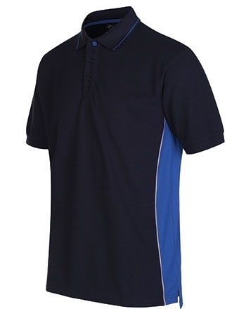 Picture of Gryzko Unisex Contrast Polo Shirt - Navy/Royal