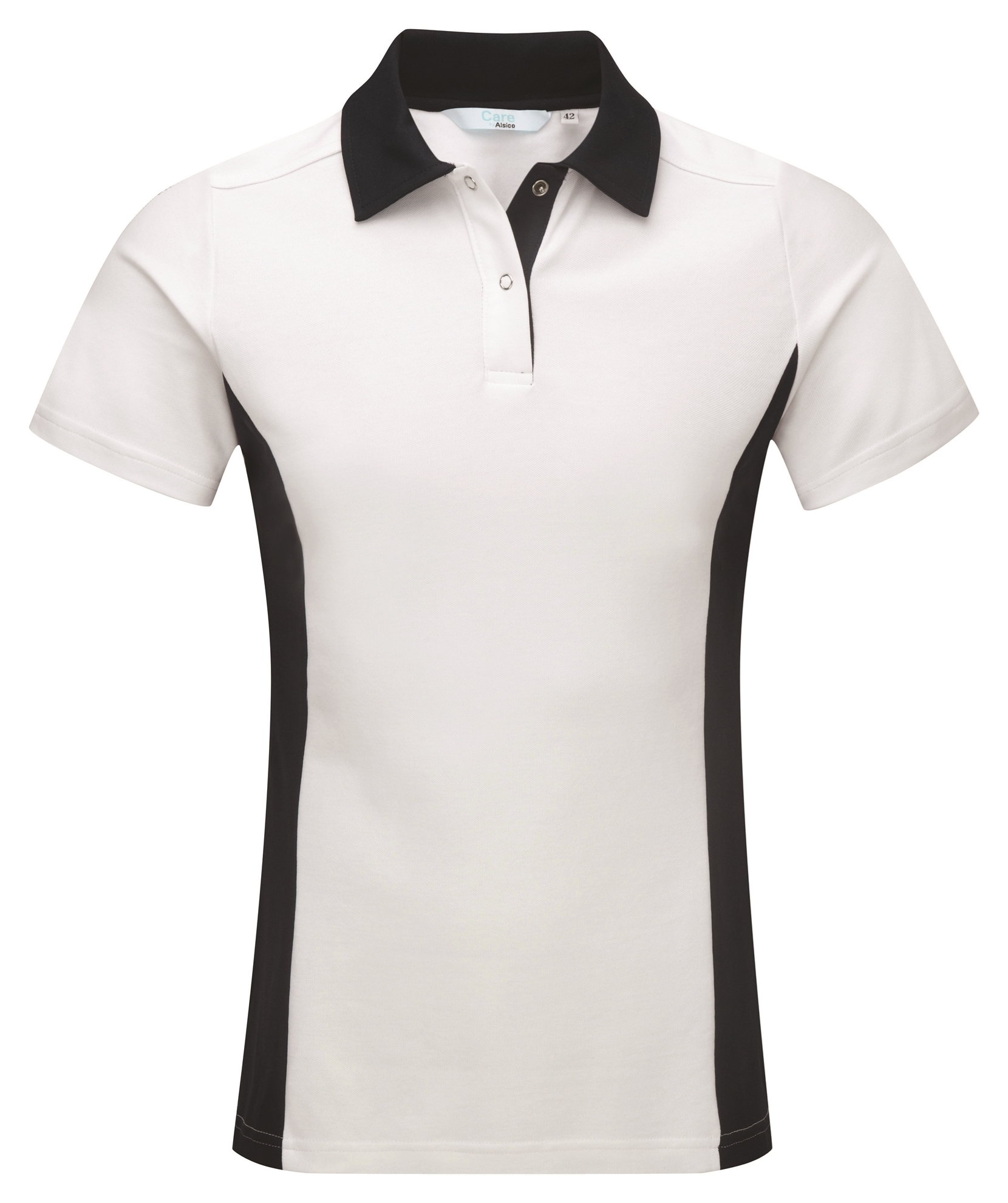Picture of Contrast Polo Shirt - White/Navy