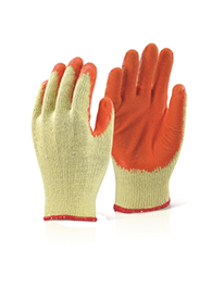 Picture of Economy Grip Gloves in Orange. Available in packs of 10