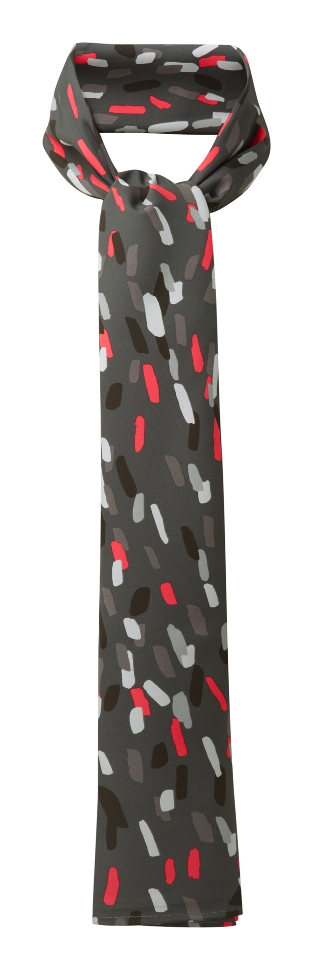 Picture of Long Scarf - Grey/Red Amelia Print