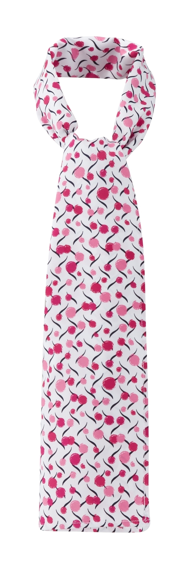 Picture of Long Scarf - White/Pink Chloe Print