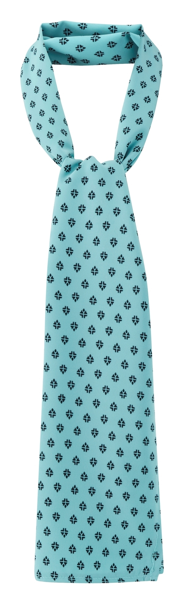 Picture of Long Scarf - Light Blue/Navy Fleur Print