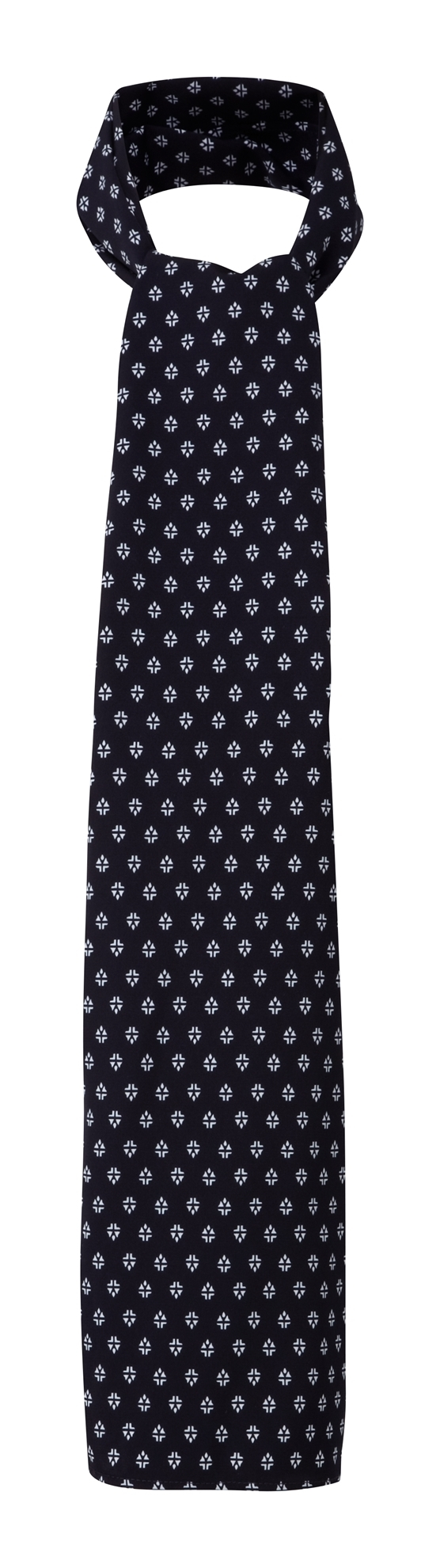 Picture of Long Scarf - Navy/White Fleur Print