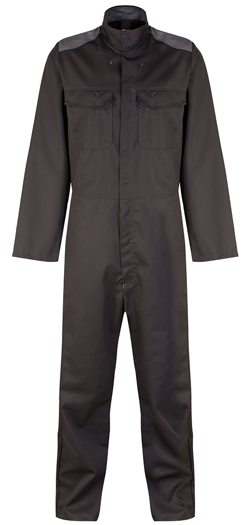 Picture of Gryzko Bi Colour Coverall - Black/Grey
