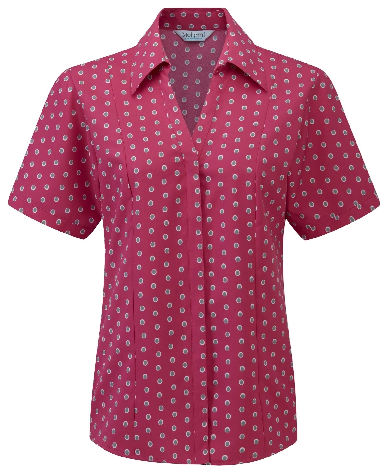 Picture of Semi-Fitted Coolweave Blouse - Pink/Grey Ella Print