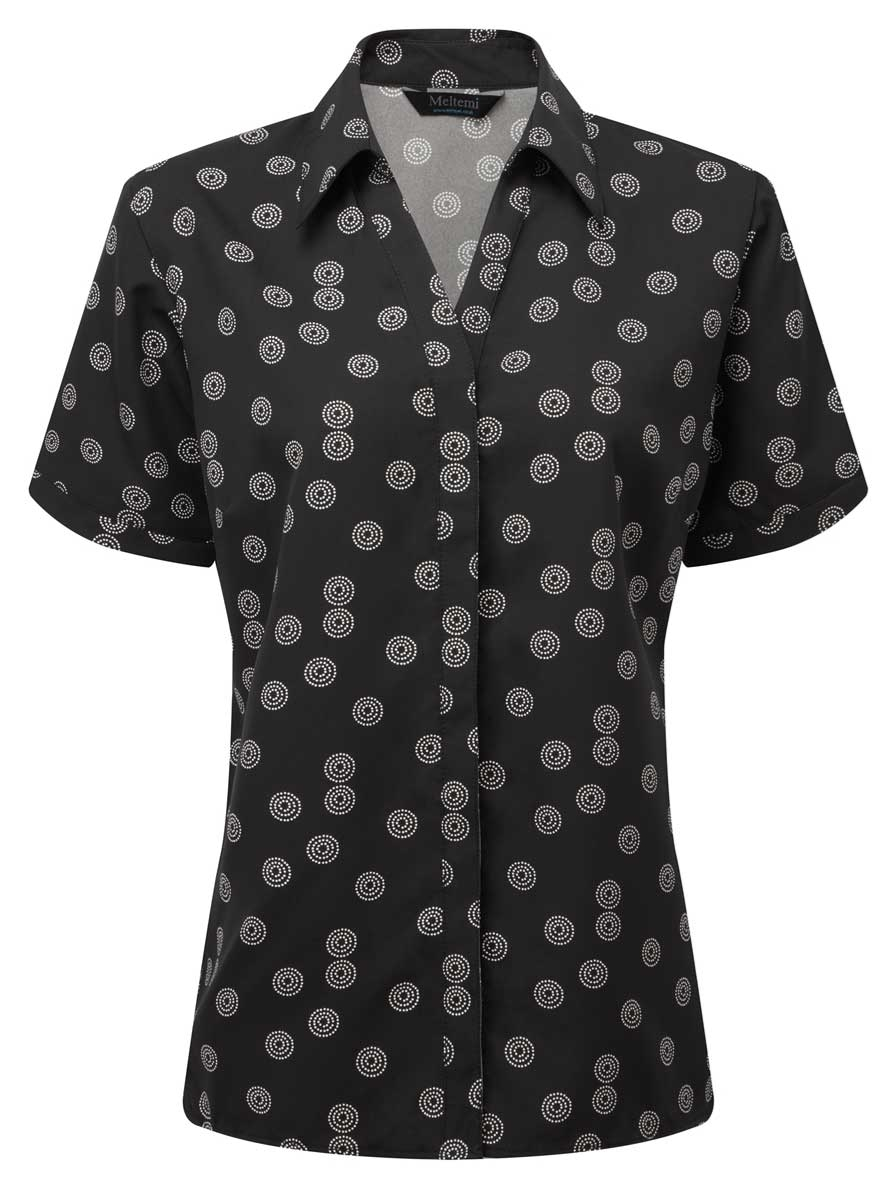 Picture of Looser Style CoolWeave Blouse - Black/White Sienna Print