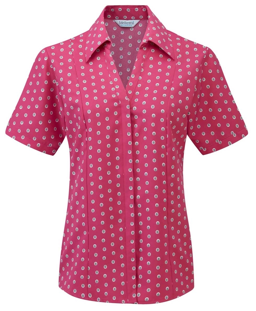 Picture of Looser Style Coolweave Blouse - Pink/Grey Ella Print