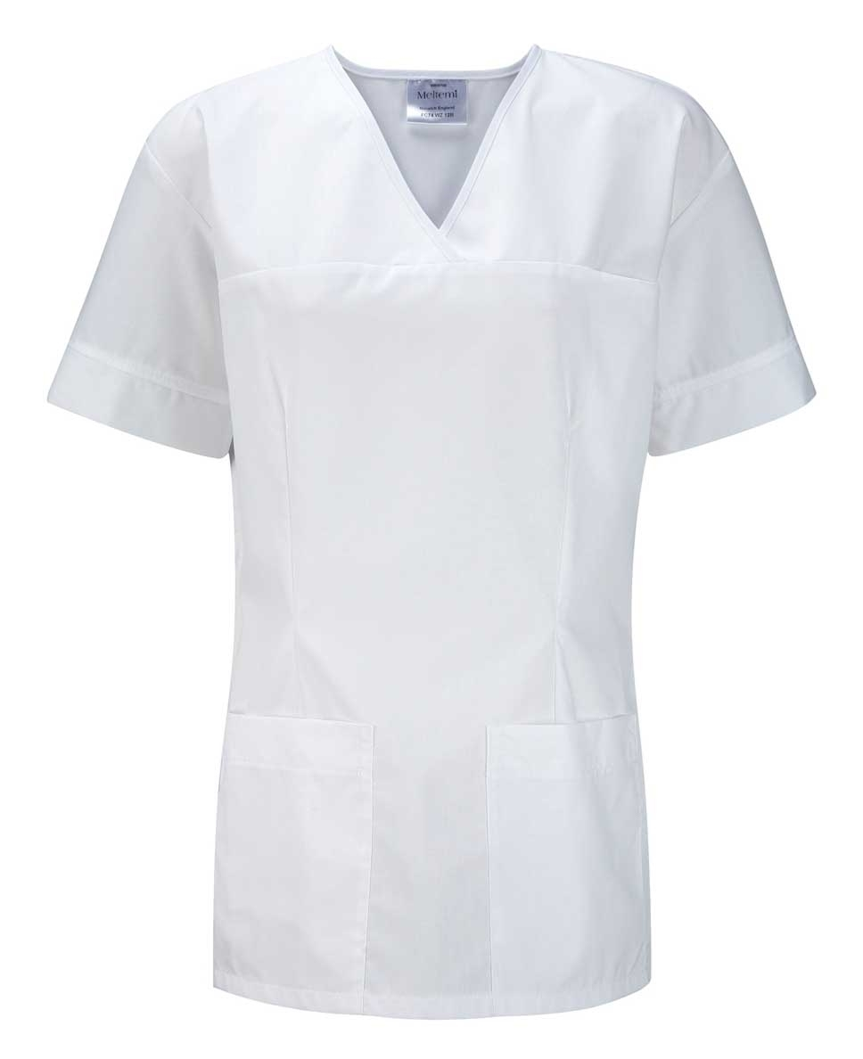 Picture of Female Smart Scrub Tunic - White