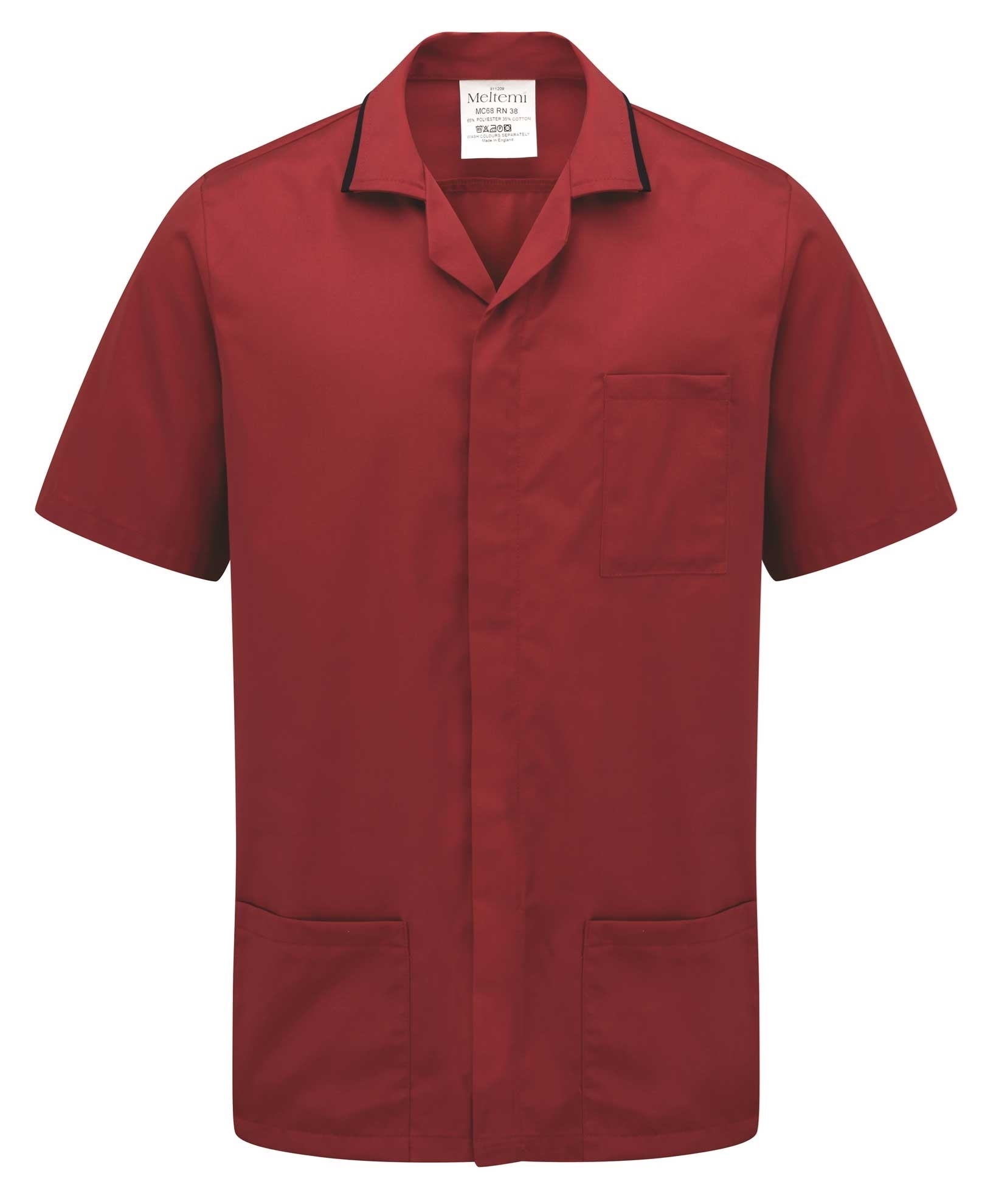 Picture of Advantage Front Fastening Tunic - Red/Navy