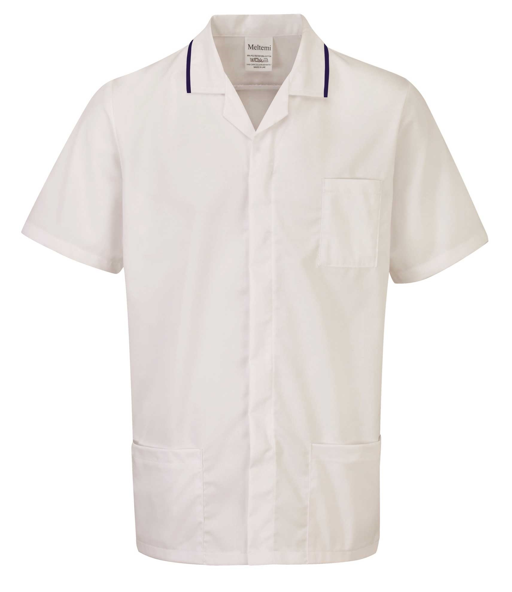 Picture of Advantage Front Fastening Tunic - White/Navy