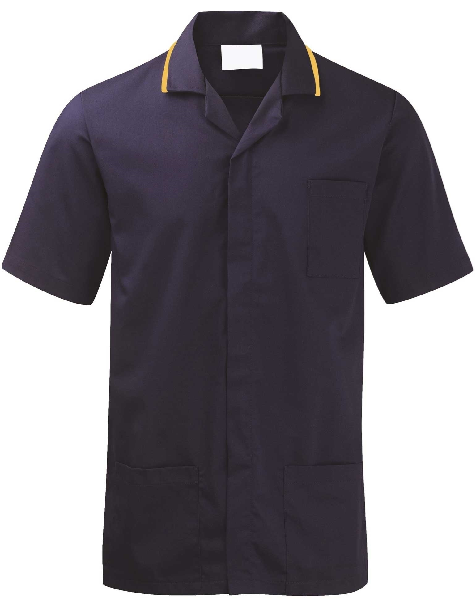 Picture of Advantage Front Fastening Tunic - Navy/Yellow