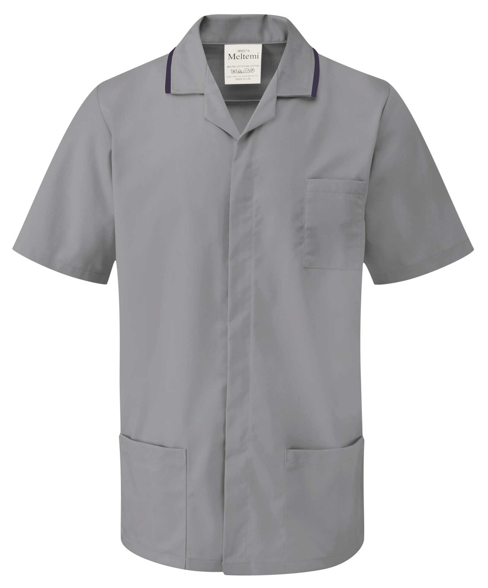 Picture of Advantage Front Fastening Tunic - Hospital Grey/Navy