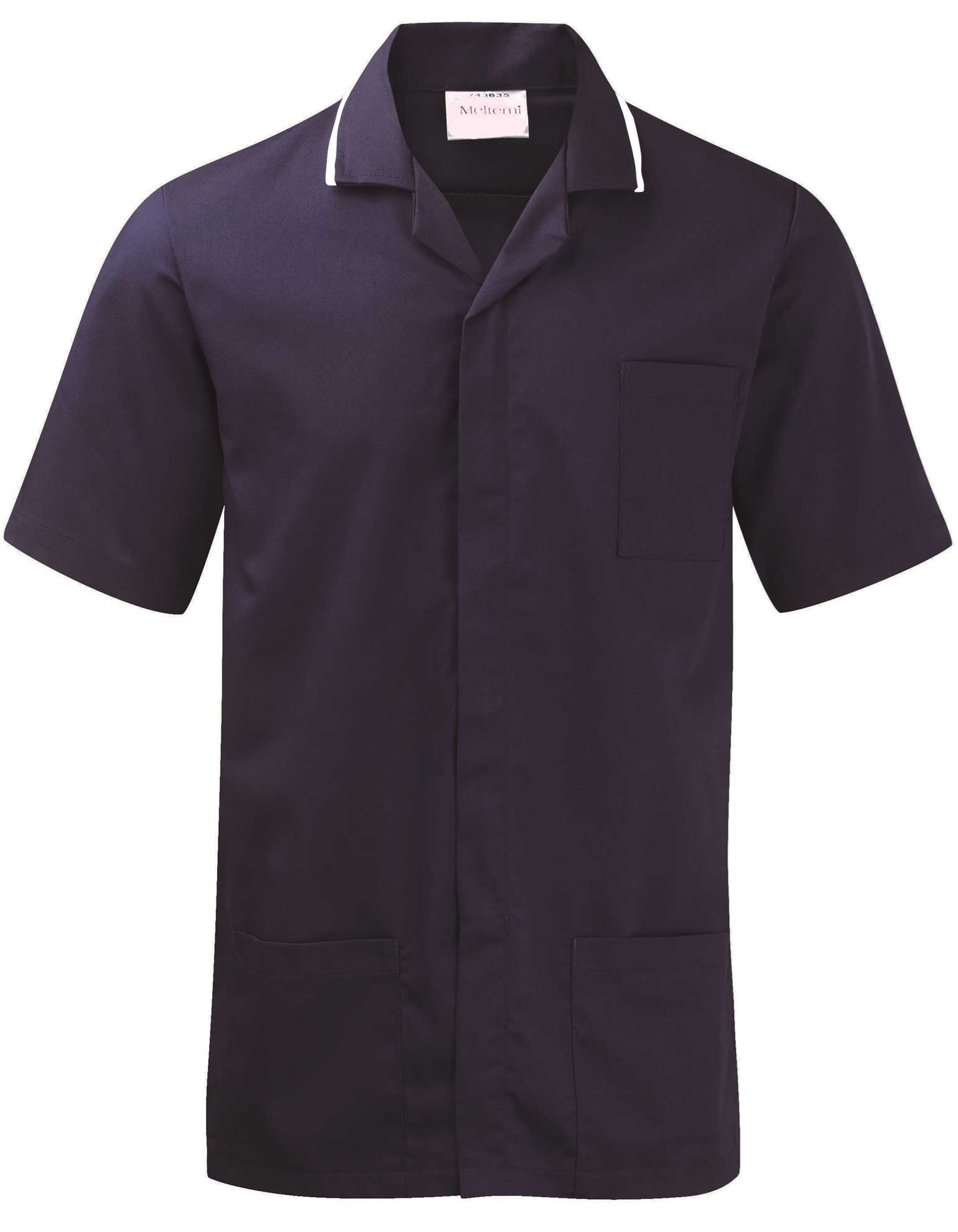 Picture of Advantage Front Fastening Tunic - Navy/White