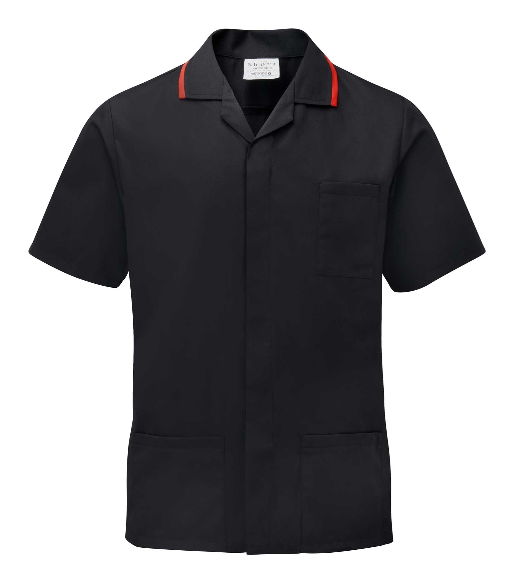 Picture of Advantage Front Fastening Tunic - Black/Red
