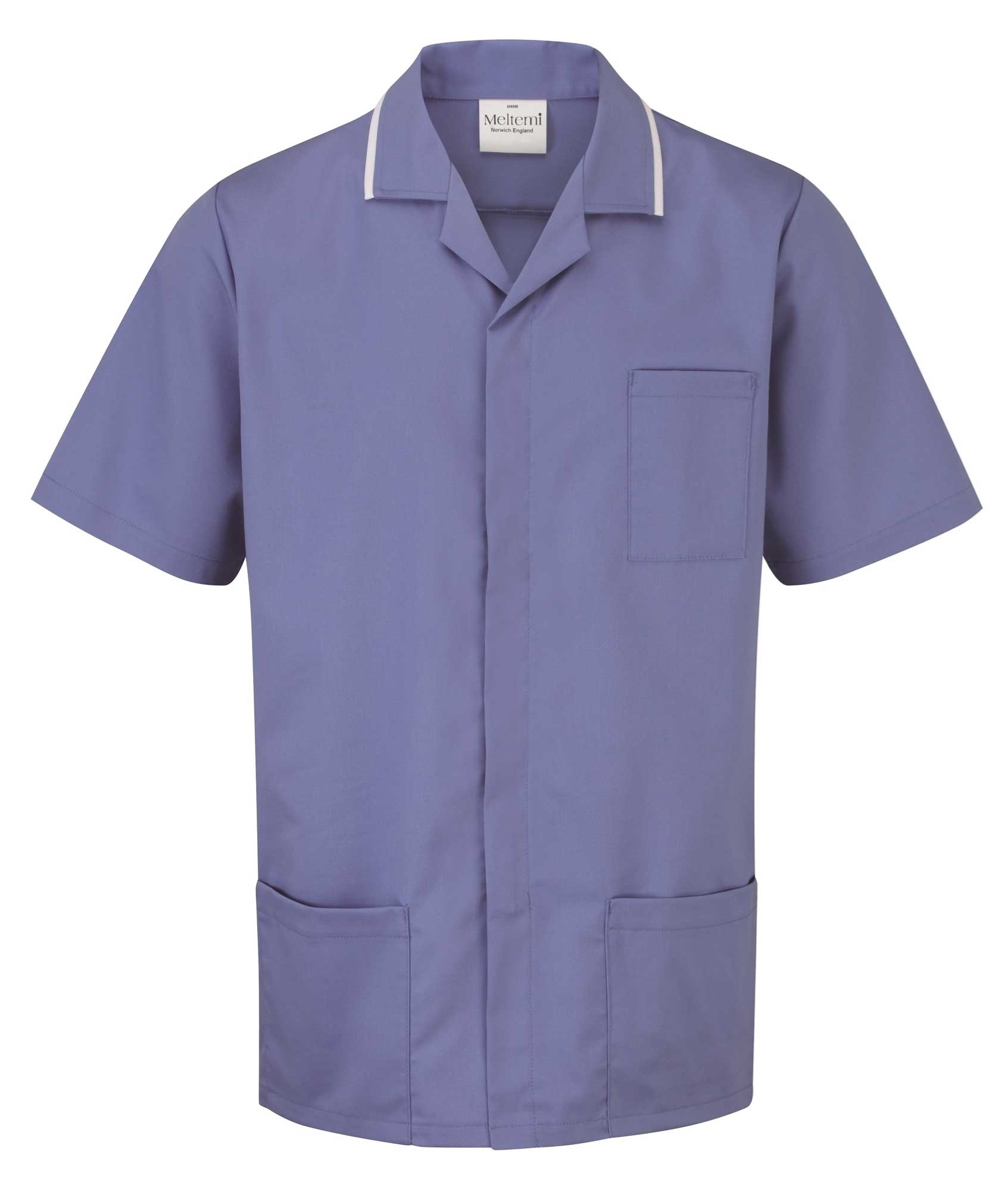 Picture of Advantage Front Fastening Tunic - Metro Blue/White