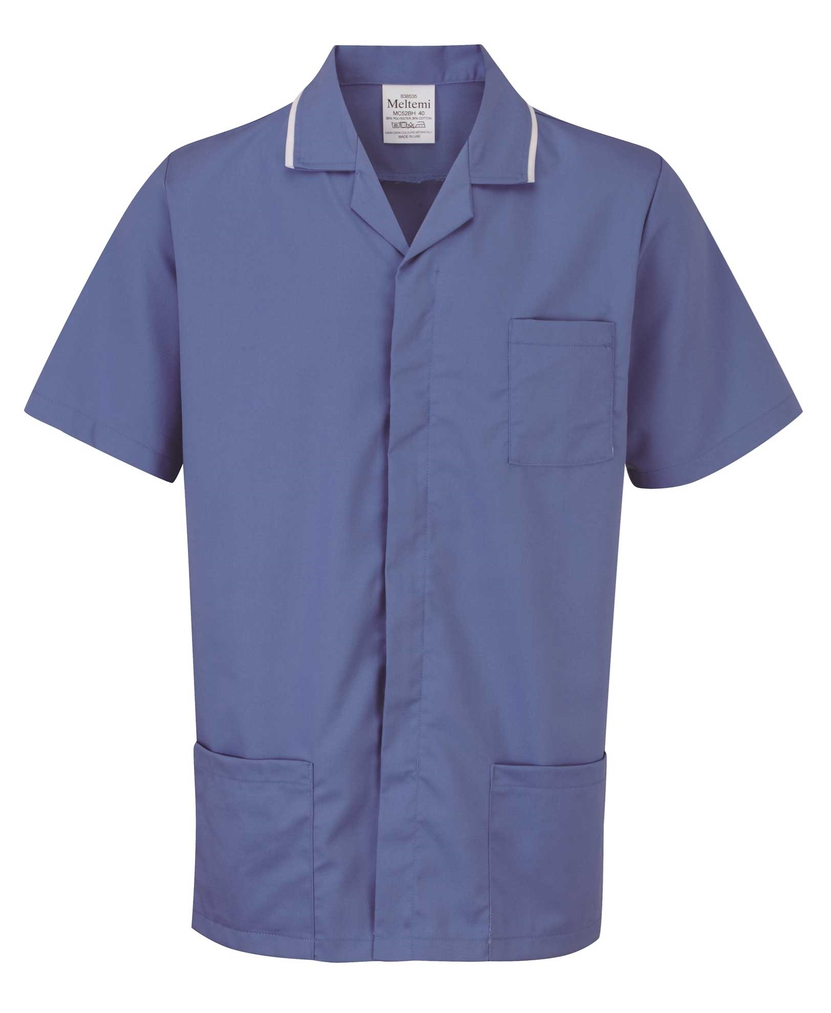 Picture of Advantage Front Fastening Tunic - Hospital Blue/White