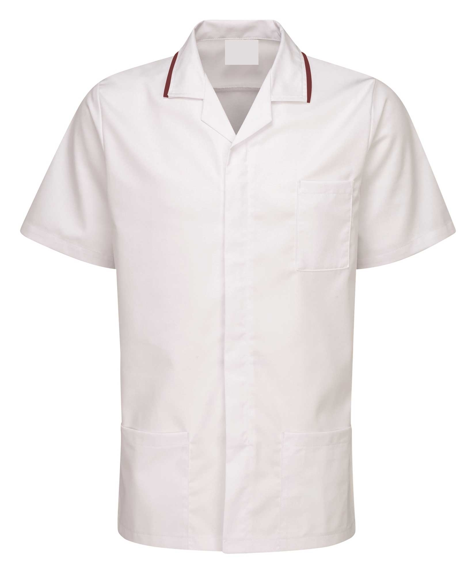 Picture of Advantage Front Fastening Tunic - White/Burgundy