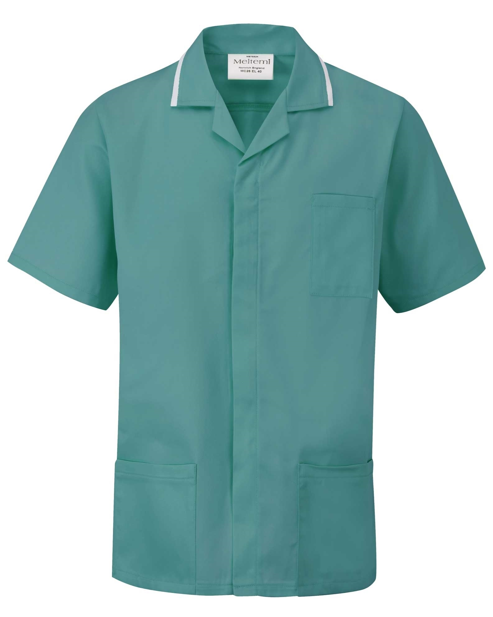 Picture of Advantage Front Fastening Tunic - Turquoise/White