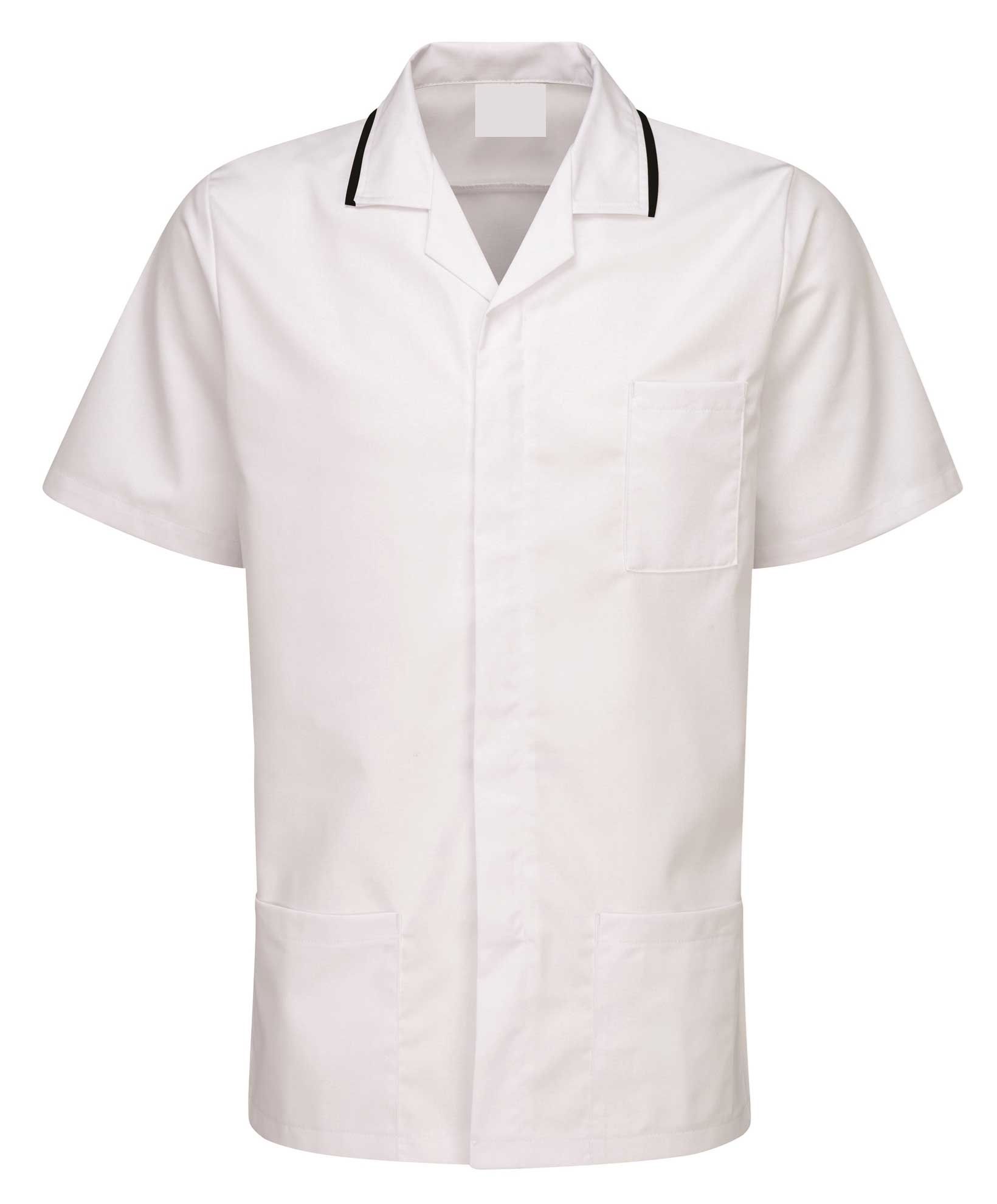 Picture of Advantage Front Fastening Tunic - White/Black