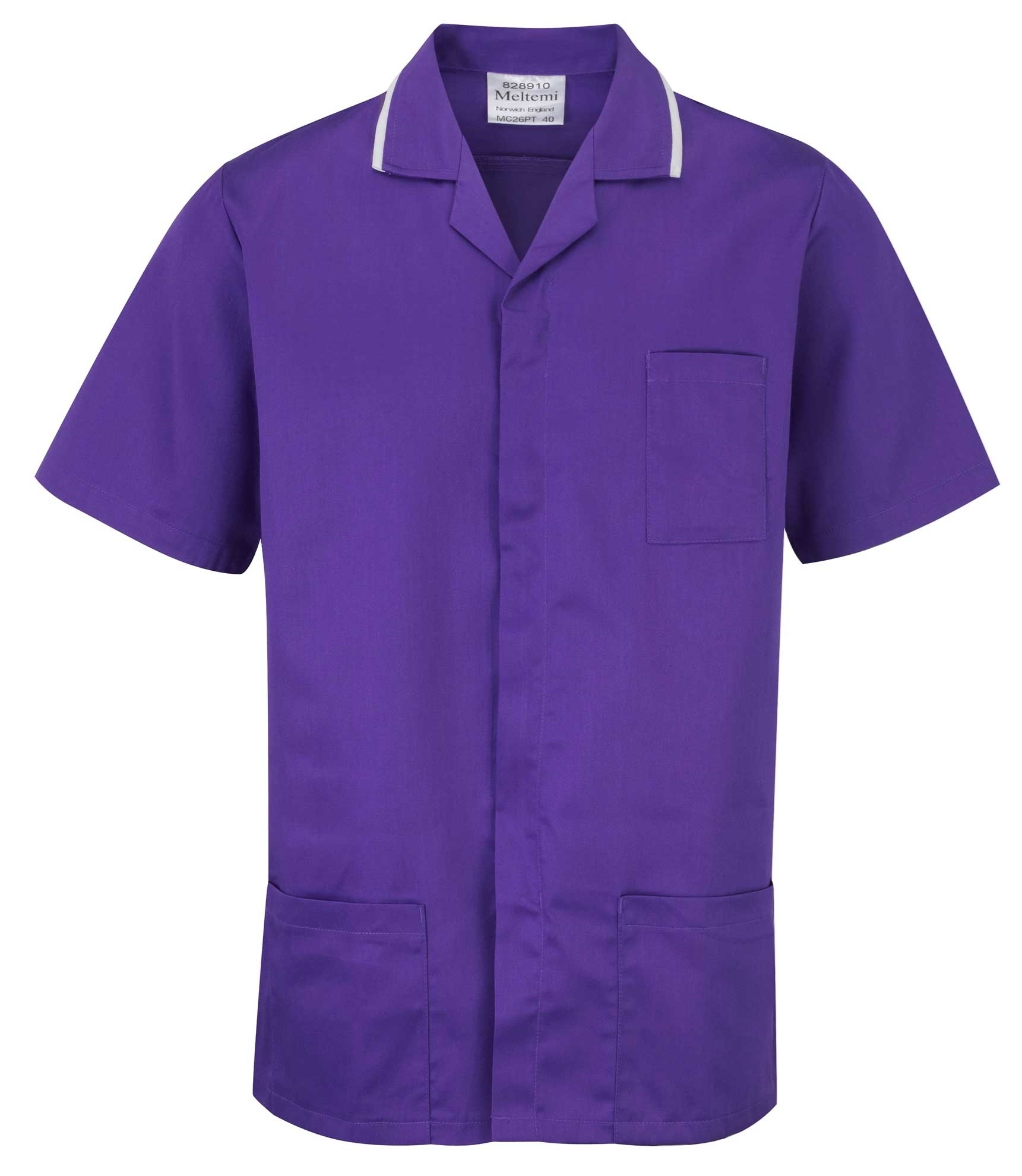Picture of Advantage Front Fastening Tunic - Purple/White