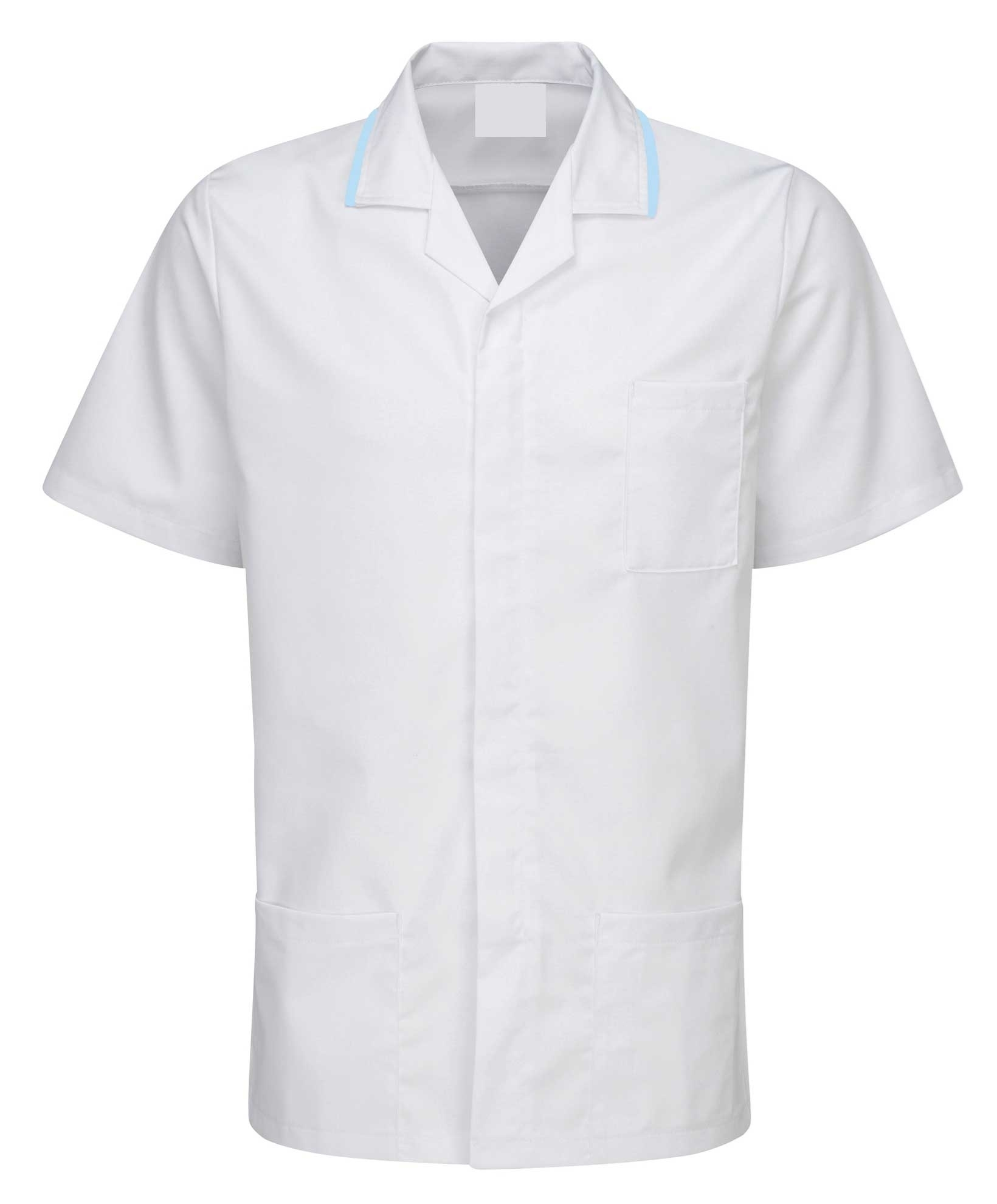 Picture of Advantage Front Fastening Tunic - White/Sky Blue