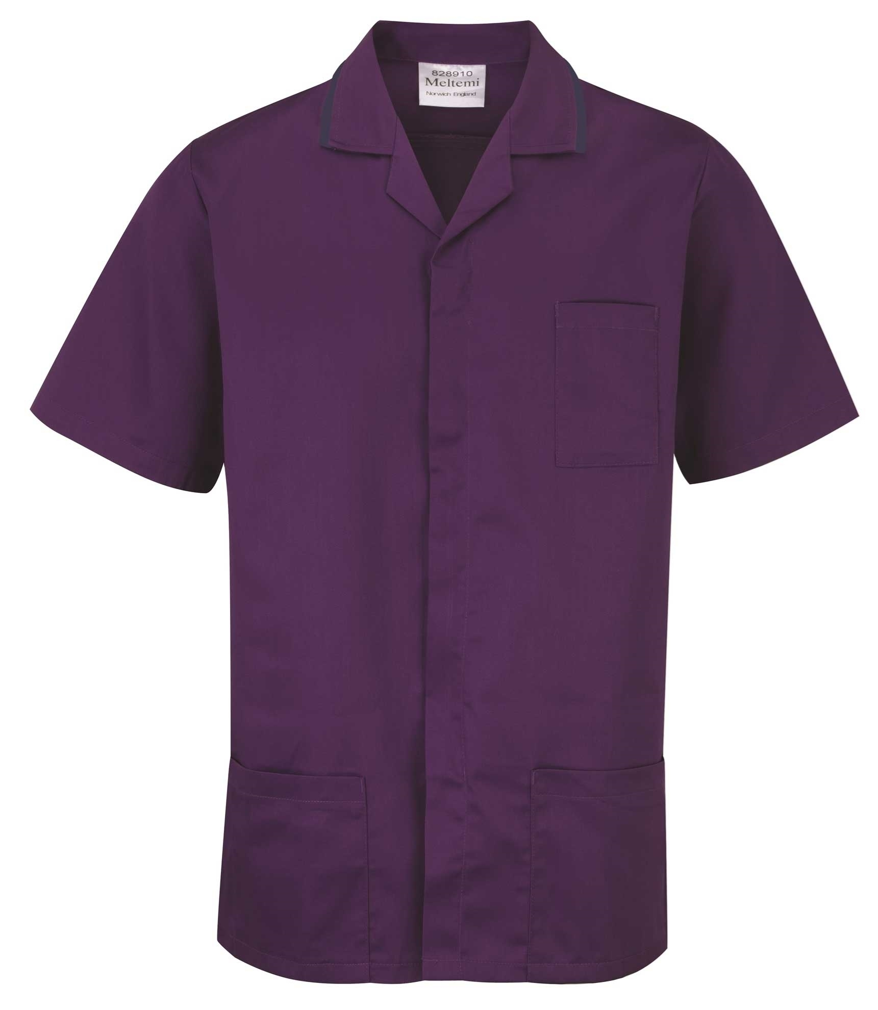 Picture of Advantage Front Fastening Tunic - Purple/Navy