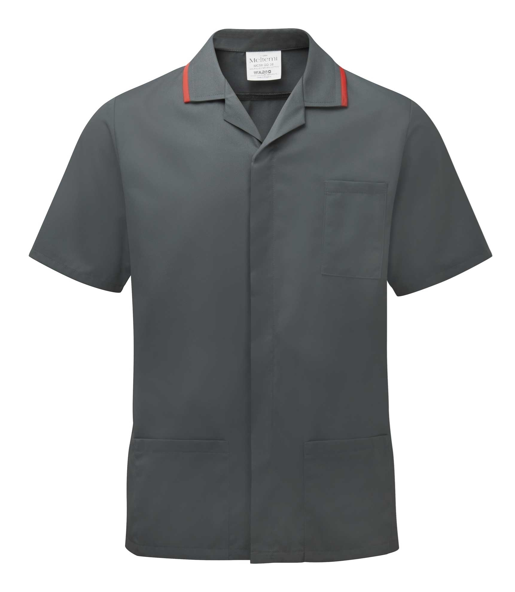 Picture of Advantage Front Fastening Tunic - Charcoal/Red