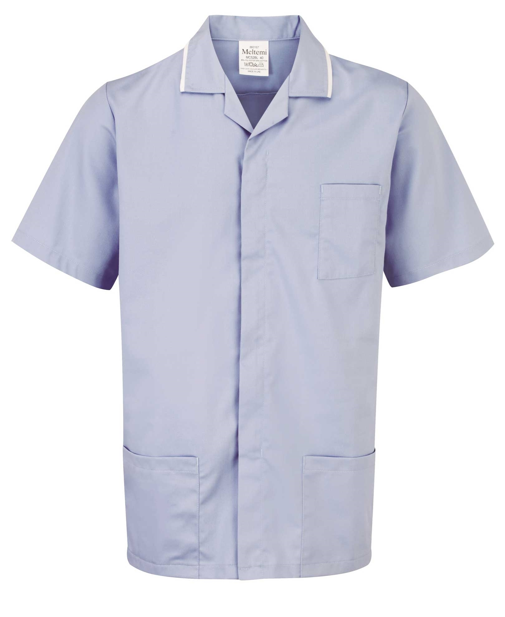 Picture of Advantage Front Fastening Tunic - Sky Blue/White