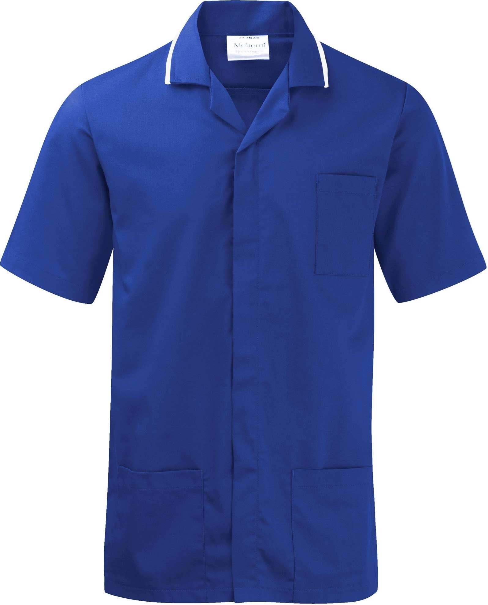 Picture of Advantage Front Fastening Tunic - Royal Blue/White