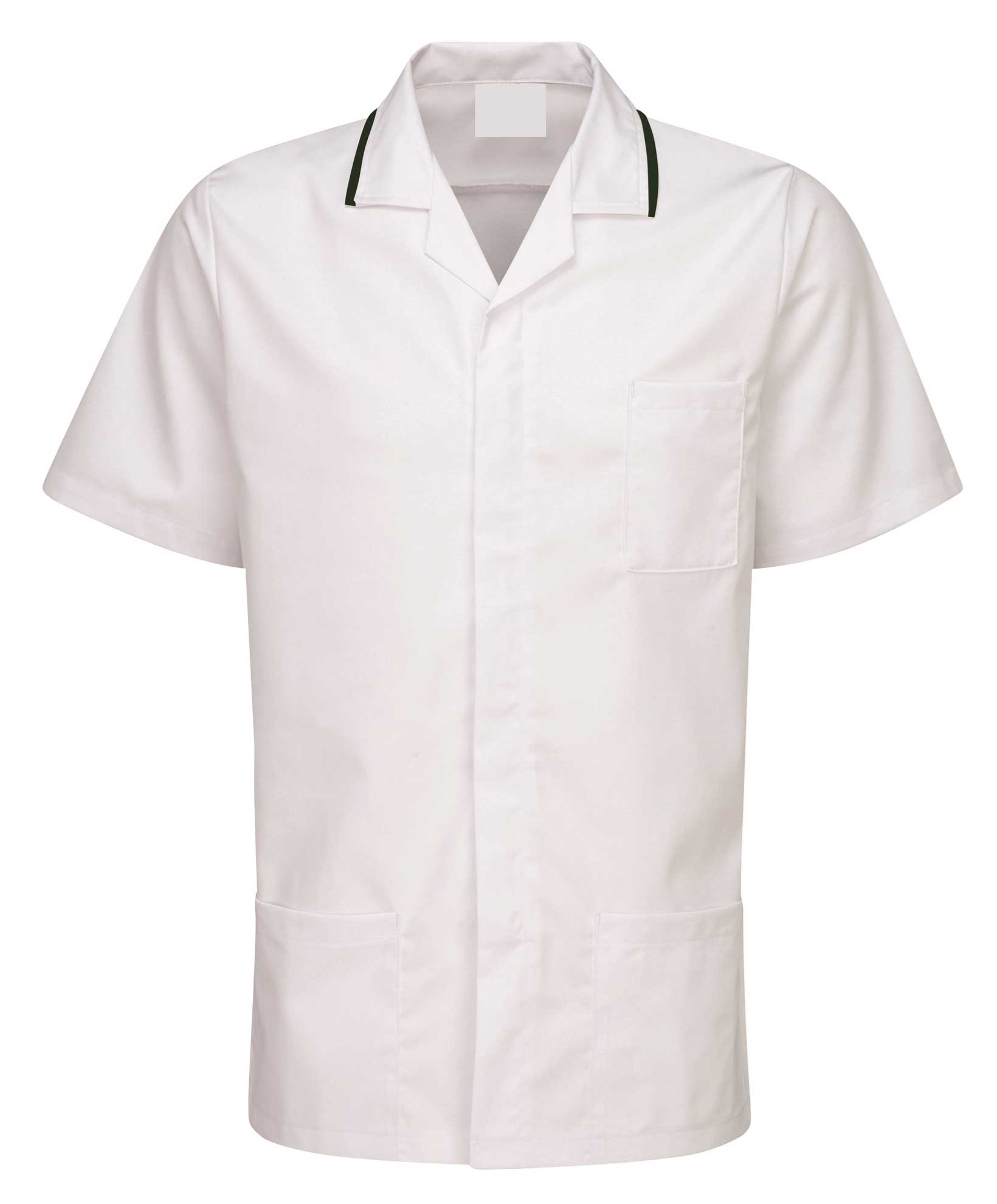 Picture of Advantage Front Fastening Tunic - White/Bottle Green