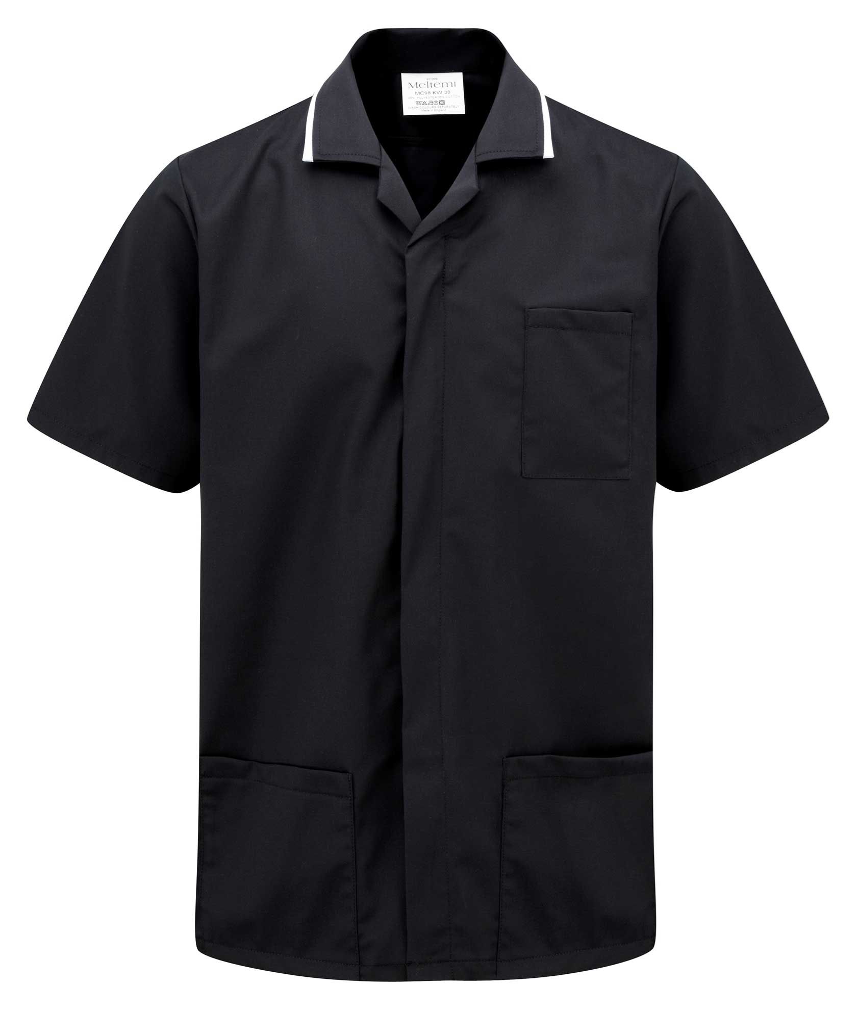 Picture of Advantage Front Fastening Tunic - Black/White