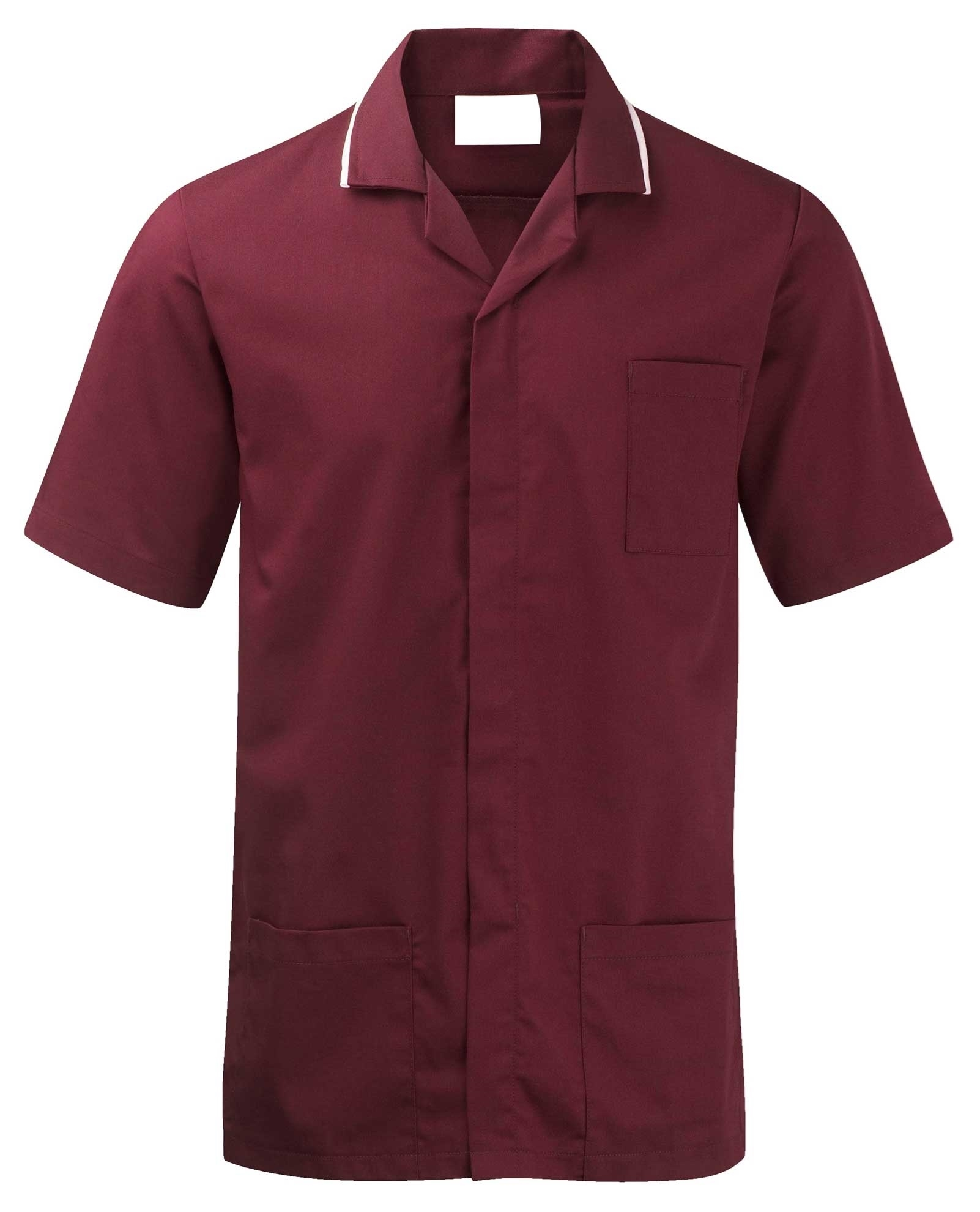 Picture of Advantage Front Fastening Tunic - Smokeberry/White