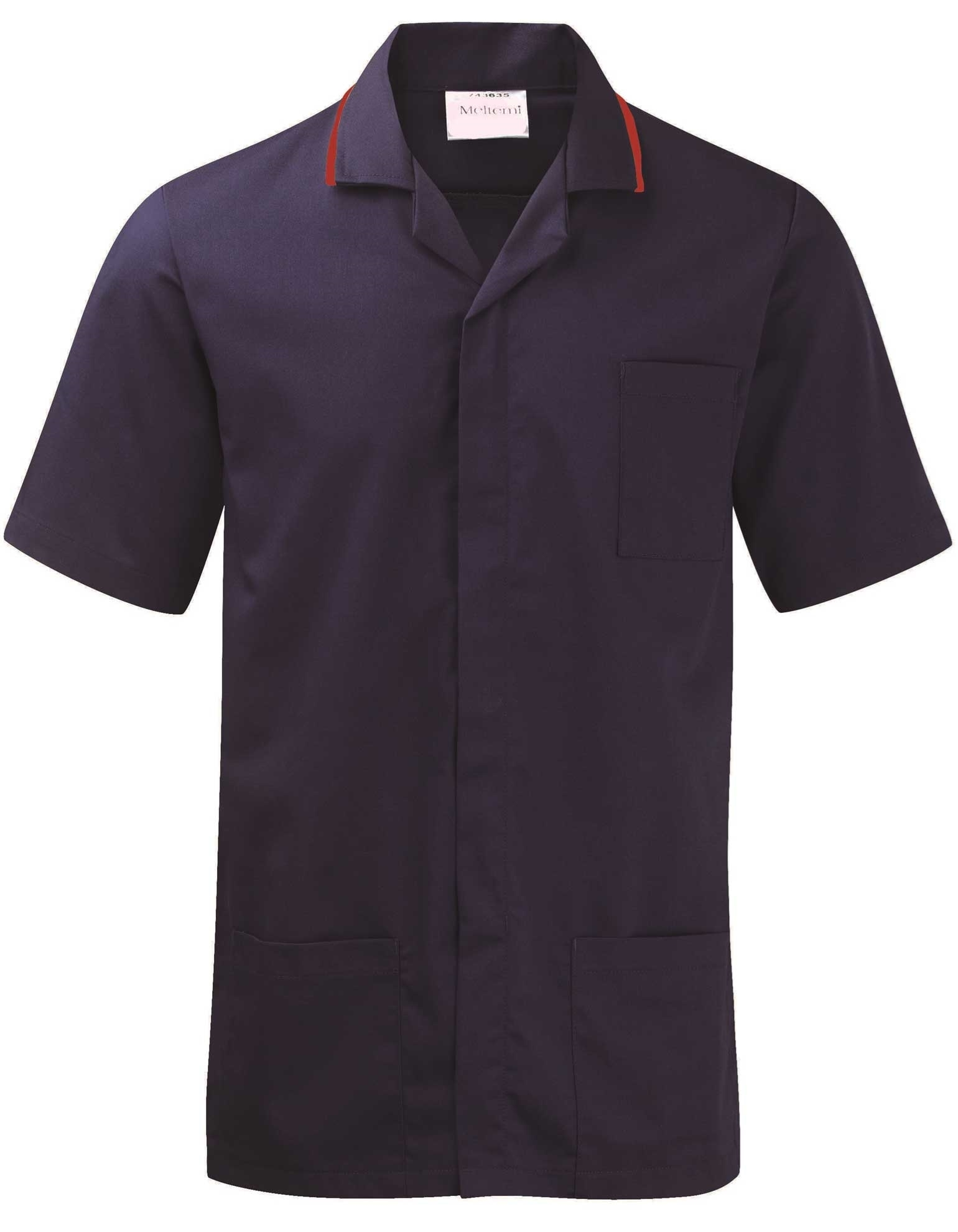 Picture of Advantage Front Fastening Tunic - Navy/Red