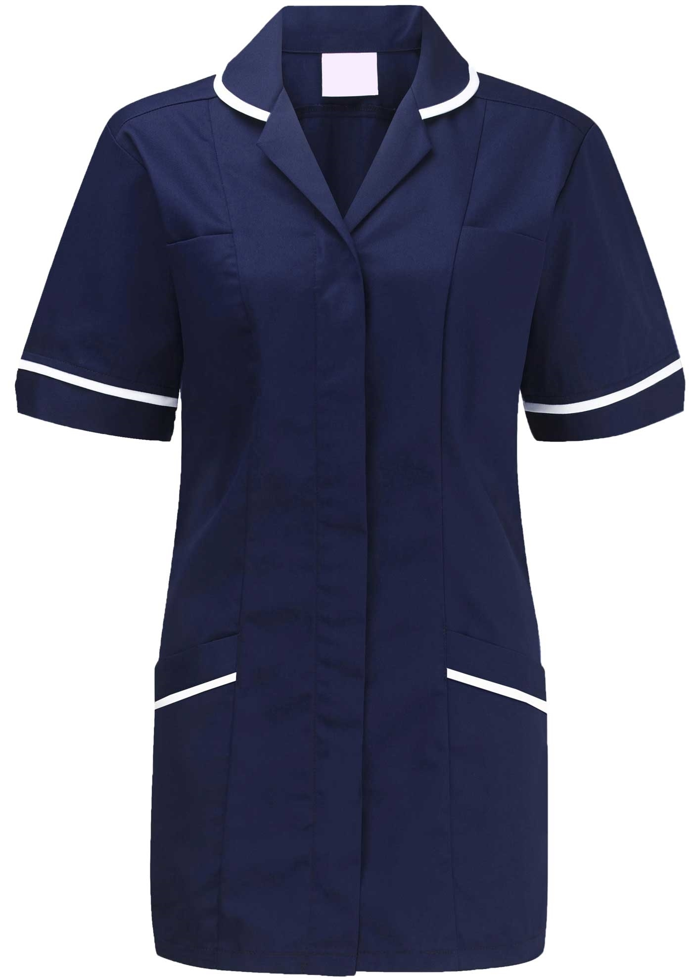 Picture of Flexi-Stretch Plain Tunic - Navy/White