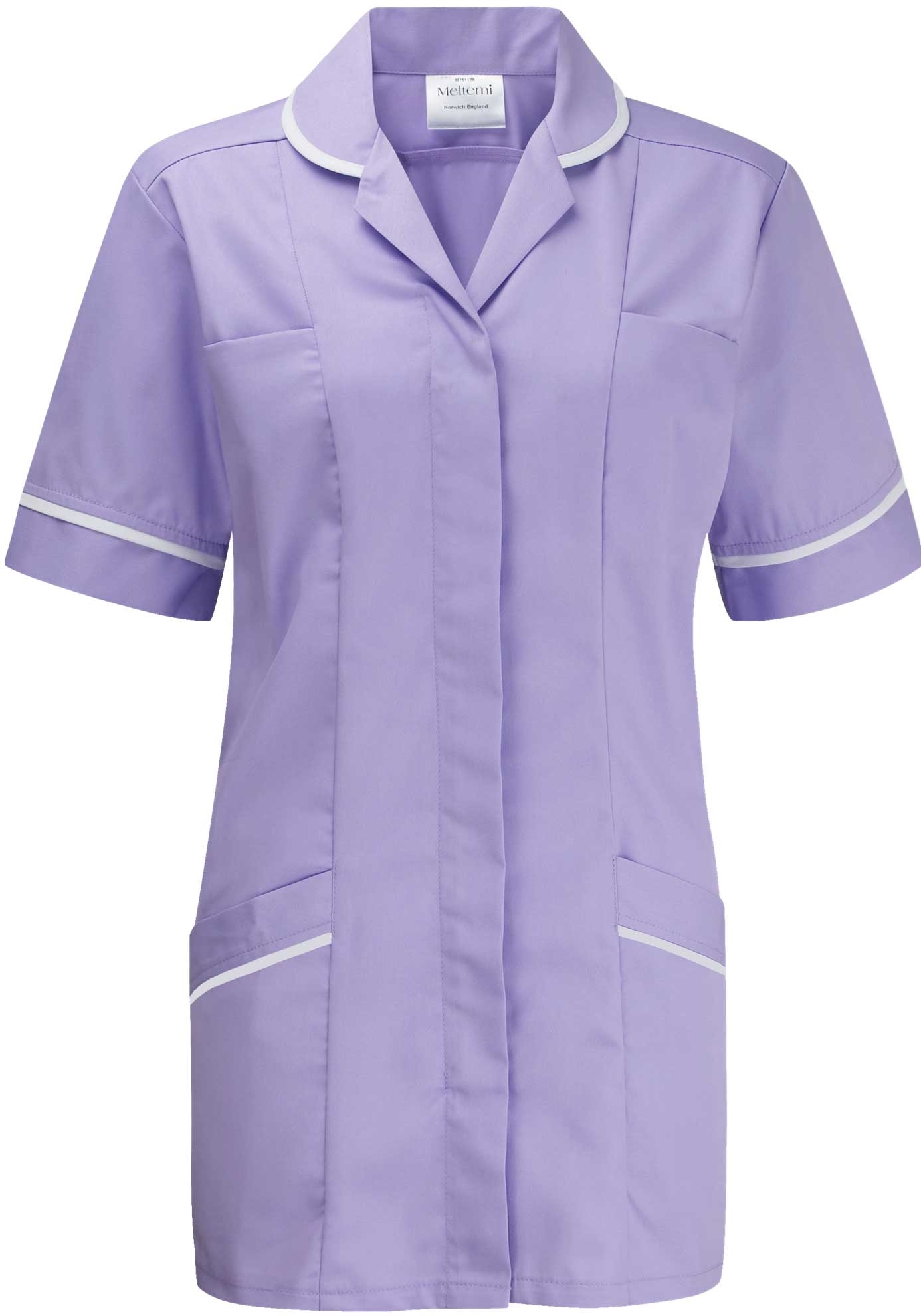 Picture of Flexi-Stretch Plain Tunic - Lilac/White