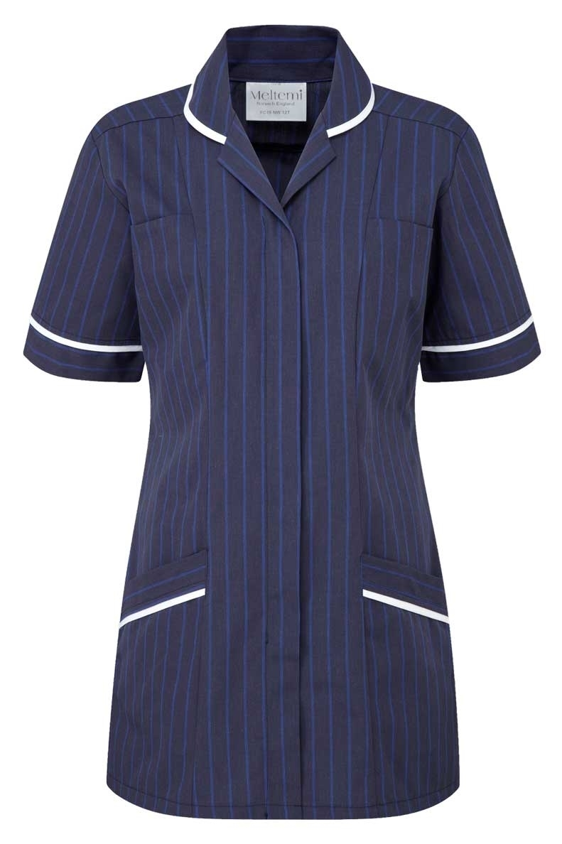 Picture of Professional Specialist Tunic - Navy Pinstripe/White