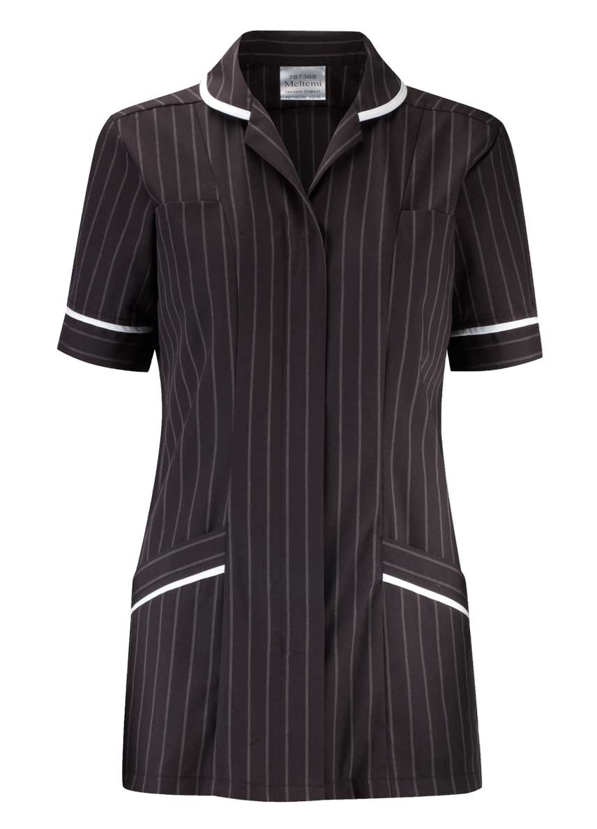 Picture of Professional Specialist Tunic - Charcoal Pinstripe/White