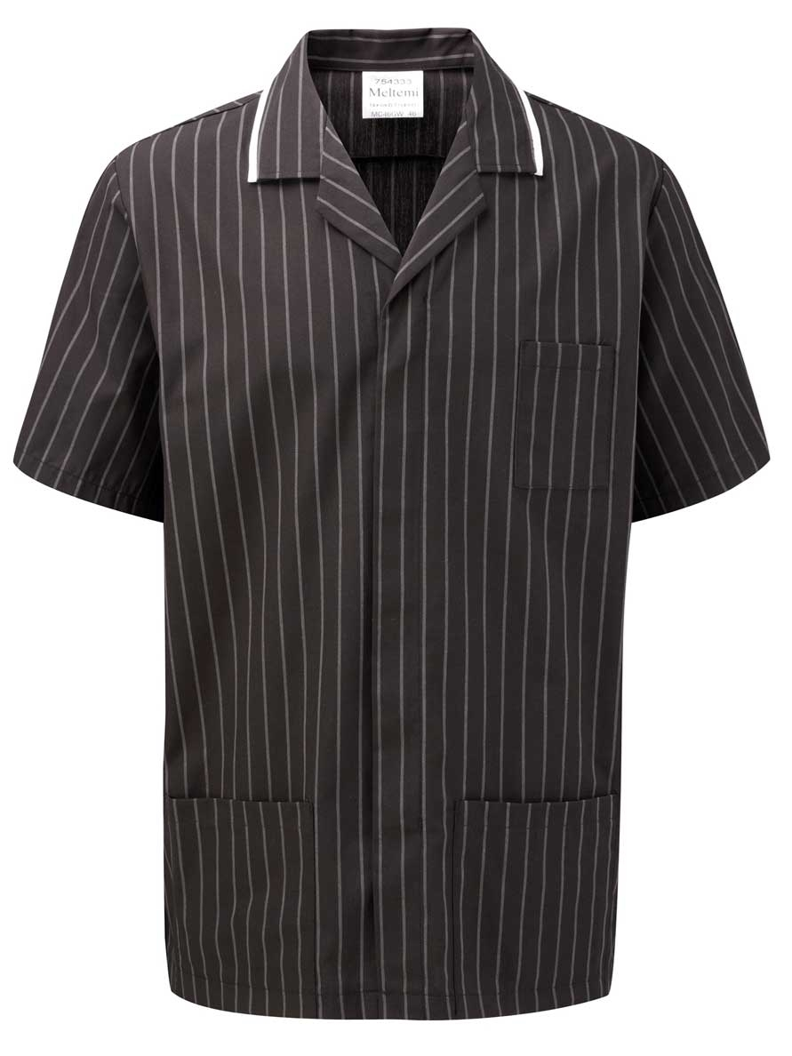 Picture of Professional Specialist Male Tunic - Charcoal Pinstripe/White