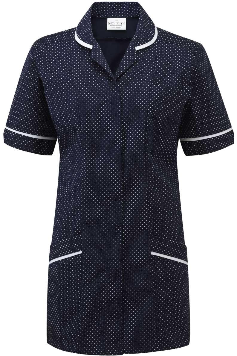 Picture of Professional Specialist Tunic - Navy-White Spot/White