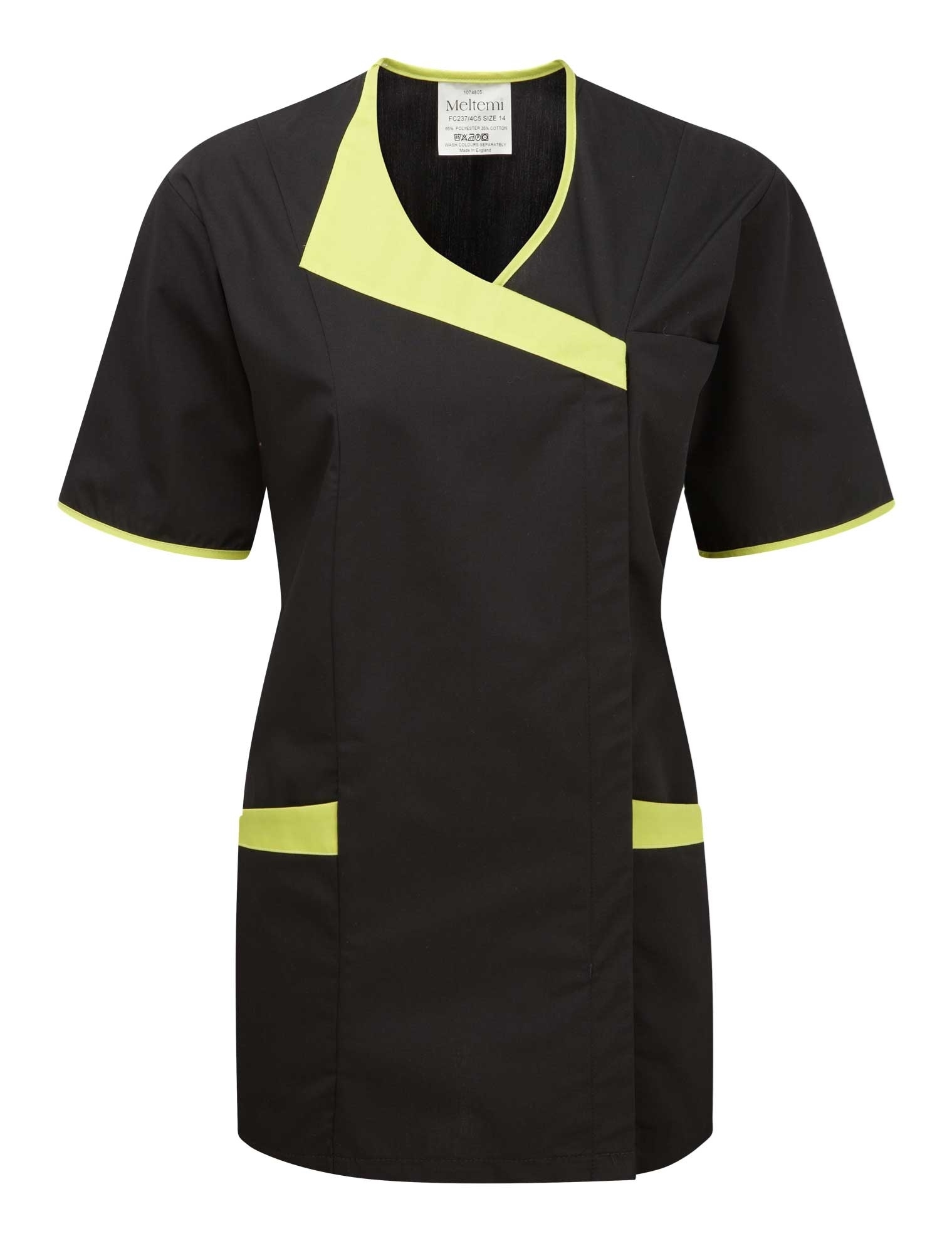Picture of Asymmetric Tunic - Black/Lime Green