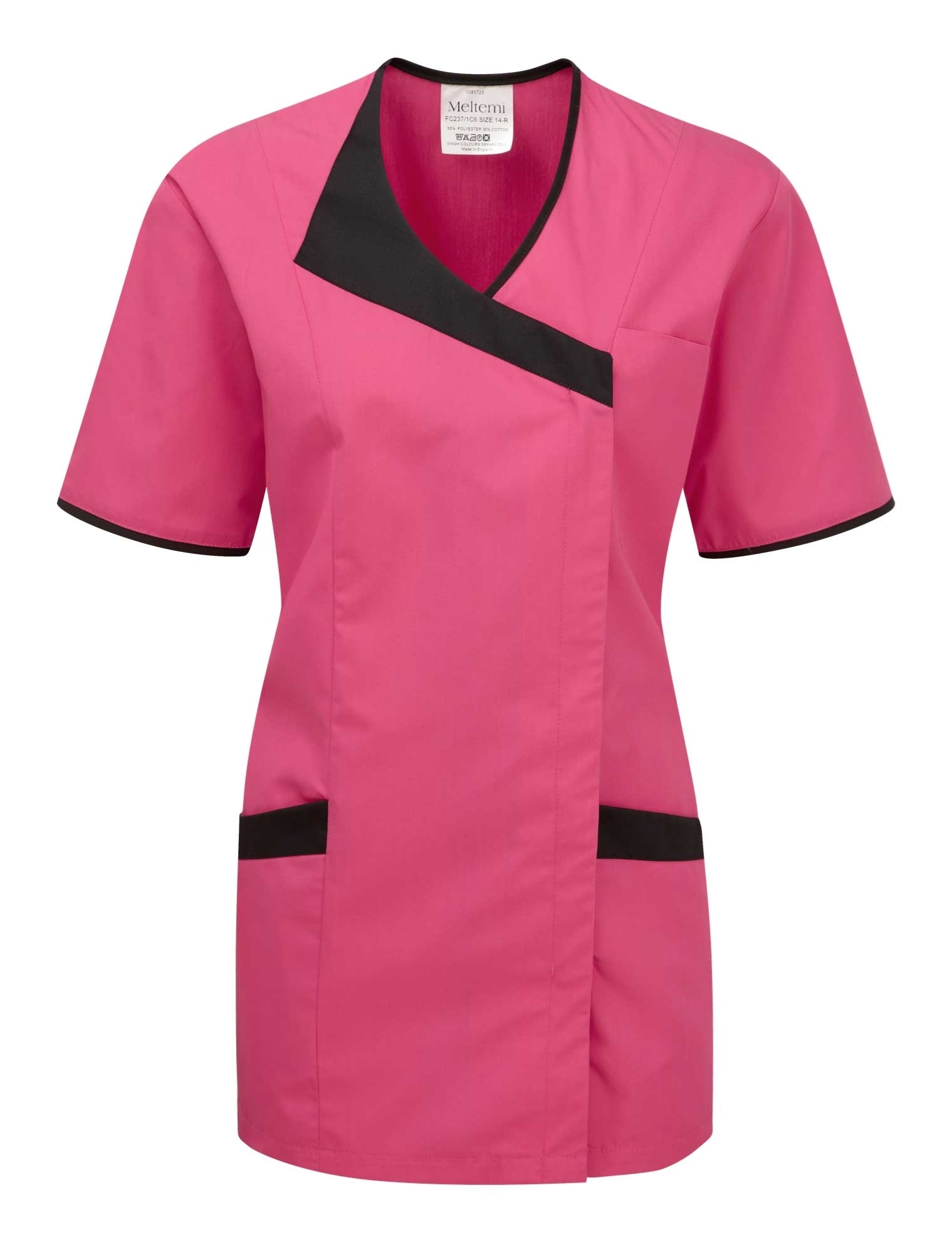 Picture of Asymmetric Tunic - Hot Pink/Black