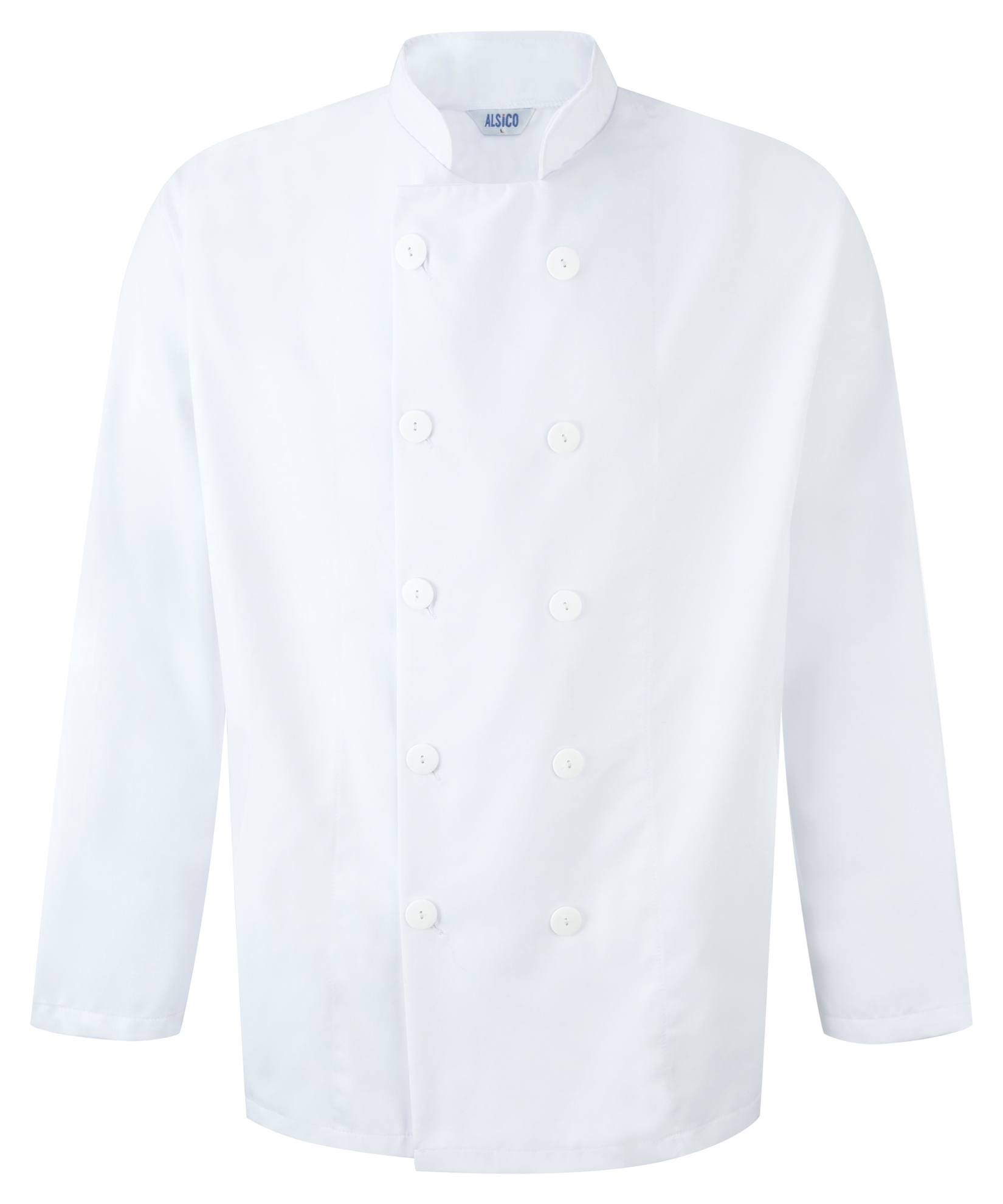 Picture of Unisex L/S Chefs Jacket with Button Fastening - White