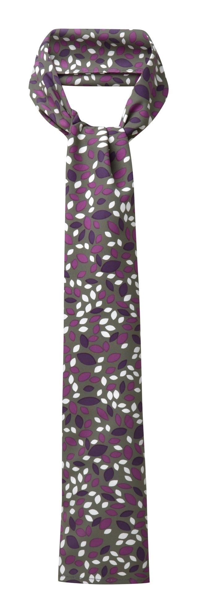 Picture of Long Scarf - Grey/Purple Lauren Print