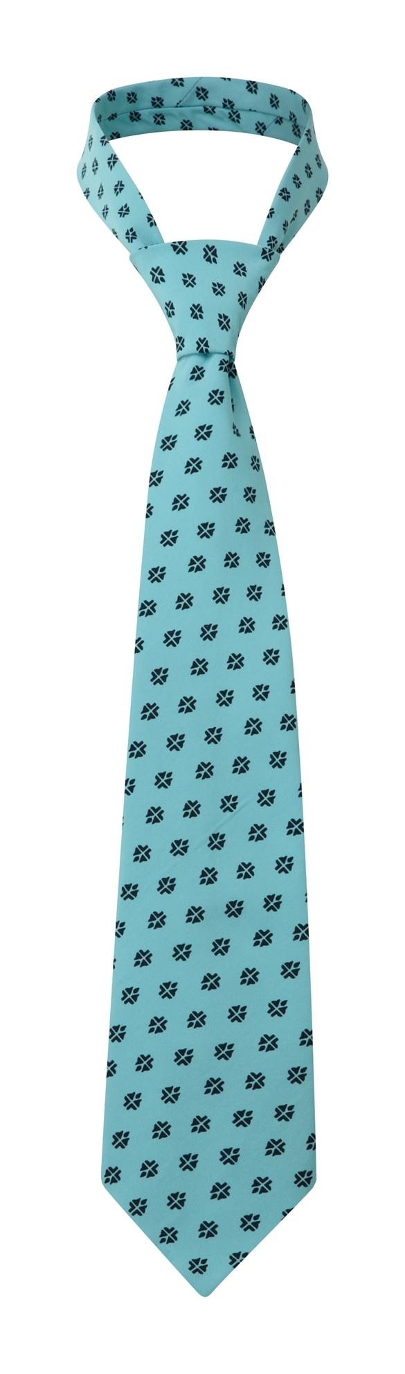Picture of Print Tie - Light Blue/ Navy Fleur Print