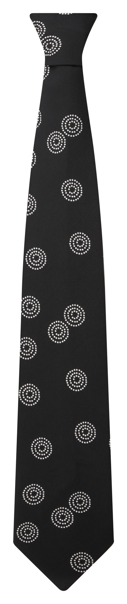 Picture of Print Tie - Black/White Sienna Print
