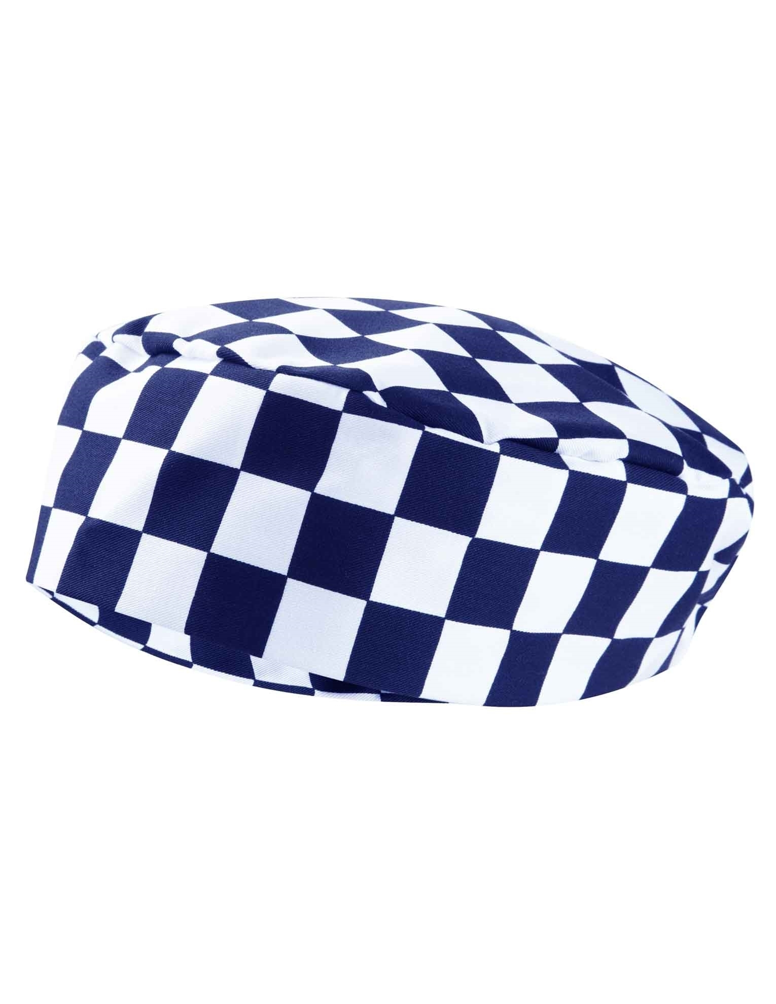 Picture of Chefs Skull Cap - Blue/White