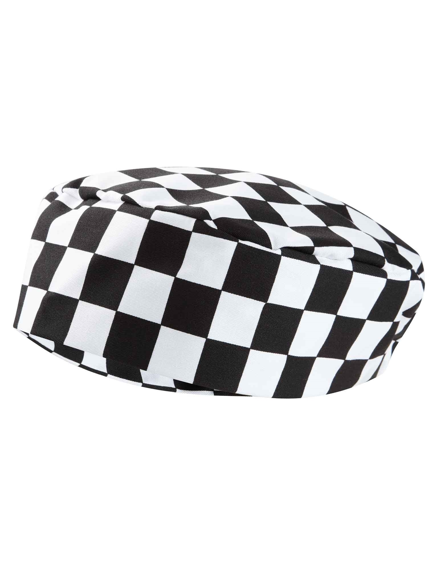 Picture of Chefs Skull Cap - Black/White